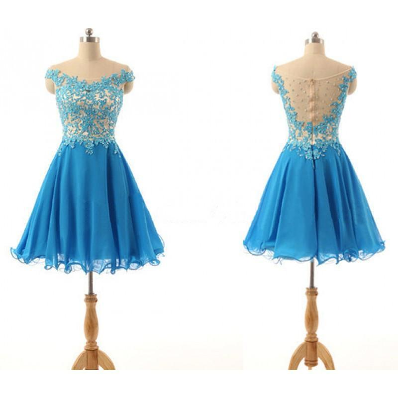 Blue Homecoming dresses,Short prom Dress,Lovely Prom Dresses,2018 Party dress