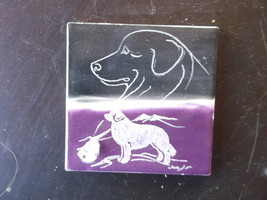 Great Pyrenees- Hand engraved Tile by Ingrid Jonsson - $22.00