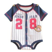 BaseBallSuit Cute Baby Onesies Infant Creeping Bodysuit Toddlers Climbing Romper