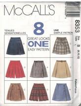 8353 UNCUT McCalls Vintage Sewing Pattern Misses Skorts 8 Looks OOP SEW ... - $7.64