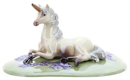 Hagen-Renaker Specialties Ceramic Figurine Unicorn Lying on Base image 6
