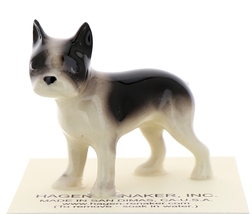 Hagen-Renaker Miniature Ceramic Dog Figurine Boston Terrier