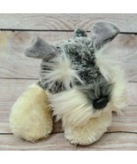 "Aurora Flopsies Plush Ludwig Stuffed Dog Schnauzer 10"" Gray Cream Soft B... - $14.54"