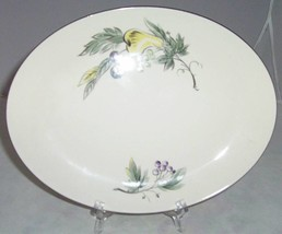 "HOMER LAUGHLIN RHYTHM DEBUTANTE PLATTER 11"" PEAR GRAPE - $19.79"
