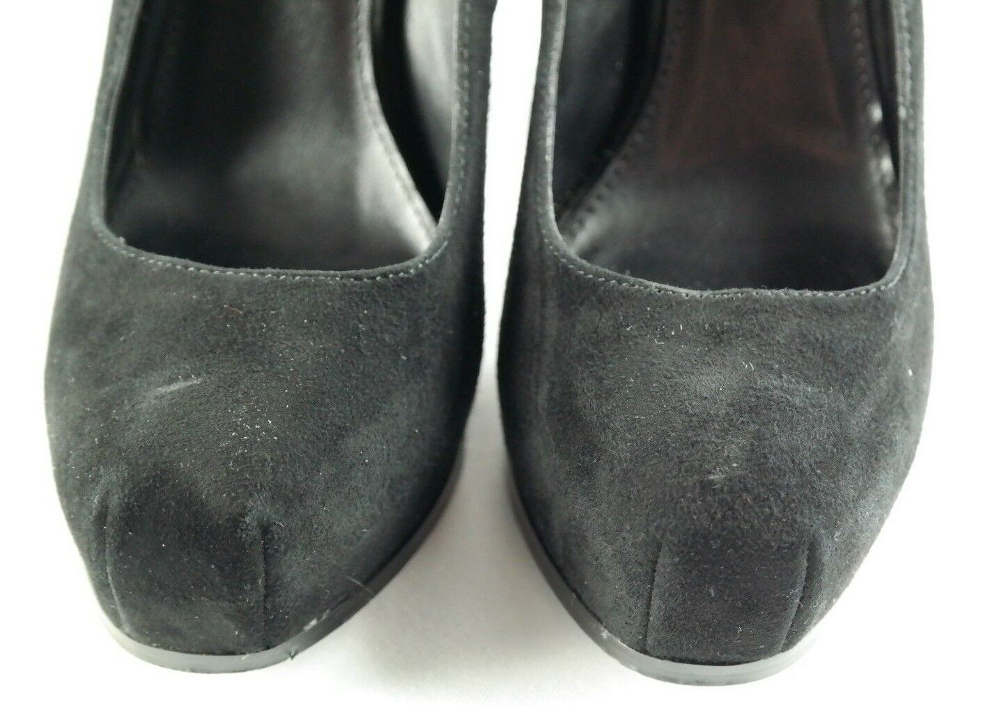 Steve Madden Sarrina Platform Pumps Womens Sz 7.5 Black Suede High Heel Shoes image 11