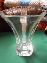 Magnificent Heavy Crystal Vase Signed REED & BA... - $55.44