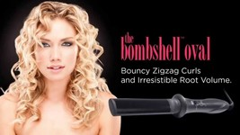SULTRA THE BOMBSHELL OVAL ROD CURLING IRON 110/220 Volt BRAND NEW!! - $89.95