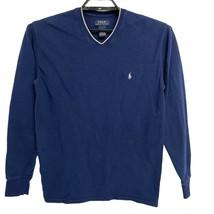 Polo Ralph Lauren V- neck Sweater Pullover Blue Men's L - $19.80