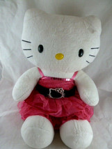 Hello Kitty Build A Bear Plush with Hot Pink Dress - $19.30