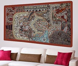 Vintage Wall Tapestry Hand Embroidery Beads Patchwork Hanging Sequins De... - $971,53 MXN