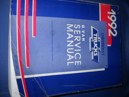 1992 gmc savana chevy express g van service shop repair manual oem x - $34.56