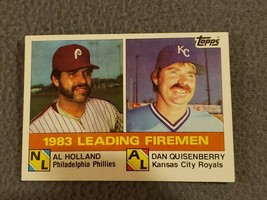 1984 Topps Philadelphia Phillies Baseball Card #138 Al Holland/Dan Quisenberry - $1.90