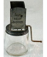 Vintage Androck Nut Meat Chopper Hazel Atlas Glass Jar Retro USA Made 1935 - $19.99
