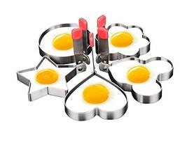 JV16 Egg Mold Ring Pancake Nonstick Stainless Steel Set of 5PCS - $22.01 CAD