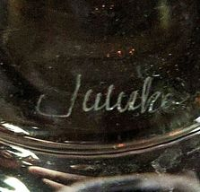 1 (One) JULISKA ISABELLA Hand Blown Crystal Carafe/Vase- Signed image 4