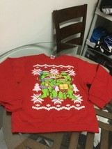 NWOT Men's Teenage Mutant Ninja Turtles Red Crewneck Christmas Sweatshir... - $17.81