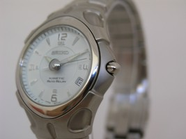 Seiko watch stainless steel kinetic movement 5J22 SMA013 - $293.04
