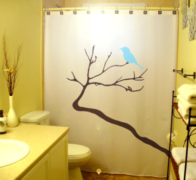 Birds on a branch shower curtain 3  65