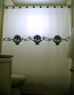 Skulls and thorns shower curtain  75