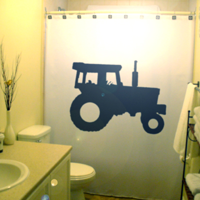 Tractor shower curtain 3  70