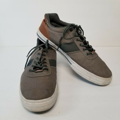 Primary image for U.S. Pollo Assn Mens Size US 12 Canvas with Leather Like Trim Sneaker Brown