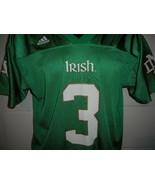 Adidas Joe Montana #3 Green Notre Dame Football Jersey Youth Large - $19.99