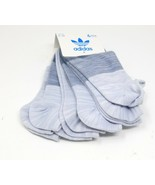 Adidas Socks 6 Pairs Womens Ankle Super No Show Socks Size 5-10 Gray Sof... - $21.78