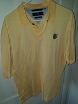 Men's Tommy Hilfiger Golf striped yellow polo sz L - $10.49