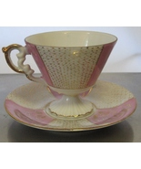 Vintage National Potteries Bone China Teacup & Saucer Marked C-6912 - $19.99