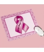 Pink Ribbon Breast Cancer Awareness Mouse Pad - $3.00