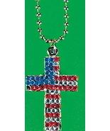 Patriotic USA Gemstone Cross Necklace - $3.00