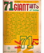 71 Giant Hits of Today (All Organs) - $10.00