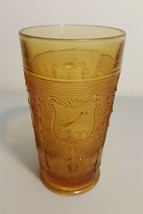 Imperial IG Amber Zodiac Astrological Sign Glass Water Tumbler - RARE - $9.99