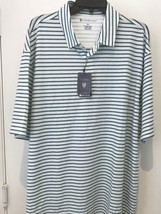 Oxford Golf Super Dry Cool Max Mens XXL Striped Short Sleeve Polo Shirt NWT - $22.20