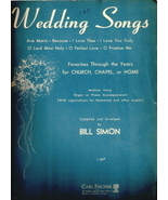 Wedding Songs: Favorites Through the Years for Church, Chape - $10.00