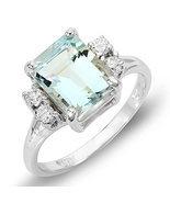 Estate ring 2.3 ct Aquamarine and diamond 14k - $640.00