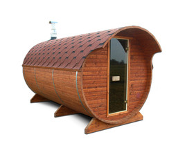 Barrel Sauna Kit for 8 Persons Outdoor Sauna with changing room Harvia M... - $7,980.00