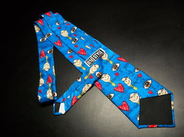 Ralph Marlin RM Style Neck Tie I Love Grandpa Repeat Bright Blues Hearts Grandpa image 6