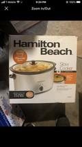 Hamilton Beach Kitchen, 6 Quart Slow Cooker, Crock Pot Healthy Home Cooking - $32.67