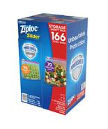 Ziploc Slider Storage Bags 166 Count Variety Pack: Quart (96 ct.), Gallo... - $21.25
