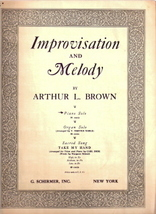 Improvisation and Melody - $40.00