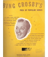 Bing Crosby's Pick of Popular Songs - $40.00