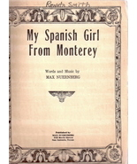 My Spanish Girl From Monterey - $30.00