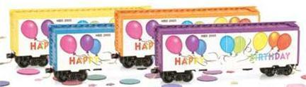 Micro Trains 02100500 Happy Birthday 40' Boxcar Yellow