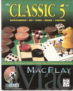 MacPlay the Classic 5 Backgammon, go,Chess, Bridge,Checkers