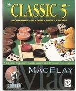 MacPlay the Classic 5 Backgammon, go,Chess, Bridge,Checkers - $15.00