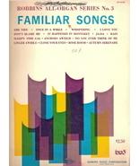Robbins All-Organ Series No. 3 Familiar Songs - $11.00
