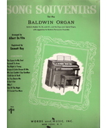 Song Souvenirs for the Baldwin Organ - $12.00