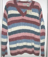 White Stag Long-Sleeve Striped V-Neck Sweater  - $10.00