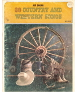 39 Country and Western Songs (All Organs) - $10.00